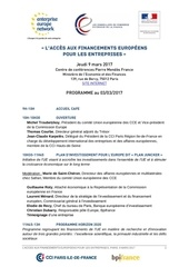 programme financements europeens 9 mars 2017