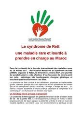 syndrome de rett une maladie rare au maroc