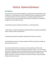 Fichier PDF notice admin