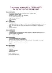 Fichier PDF voyage maroc