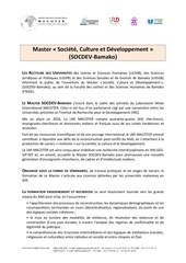 appel a candidature master
