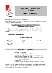 competition epee challenge open 2017