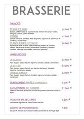 carte restaurant 2017