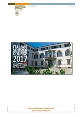 italian summer course 2017