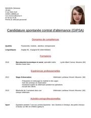 cv clemence pdf