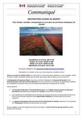destination acadie communiquemaroc 2017 1