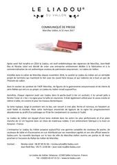 communique de presse le liadou du vallon mars 2017