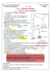 cours 1notion de reaction chimique eleve