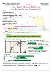 cours 3 le poids d un corps principe d inertie prof