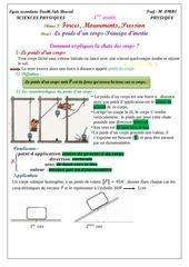 cours 3 le poids d un corps principe d inertie