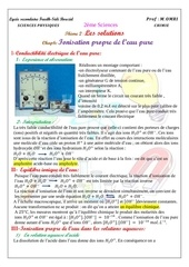 cours 6 ionisation propre de l eau