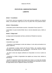 projet statuts classe laser rc version 15 03 2017