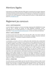 gsl charleroi mentions le gales re glement