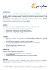 Fichier PDF definition de poste account manager