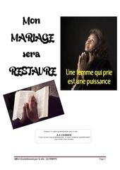 mariage restaure action prophetique