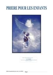 recueil de prieres pour les enfants