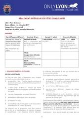 reglement interieur des fetes consulaires