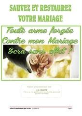 sauver et restaurer votre mariage maintenant