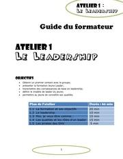 jeune leader guide du formateur