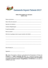 Fichier PDF fiche dinscription supers talents 2017 1