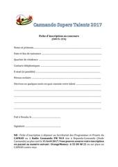 fiche dinscription supers talents 2017 1