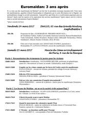 programme euromaidan 3ans apres
