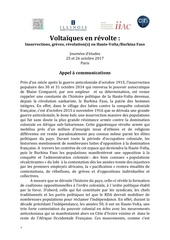 voltaiques en re volte