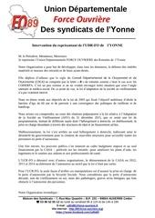 declaration fo au cdca de l yonne 21 mars 2017