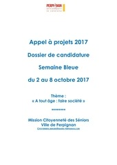 dossier appel a projet semaine bleue 2017