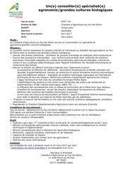 recrutement conseiller specialise bio 2017 1