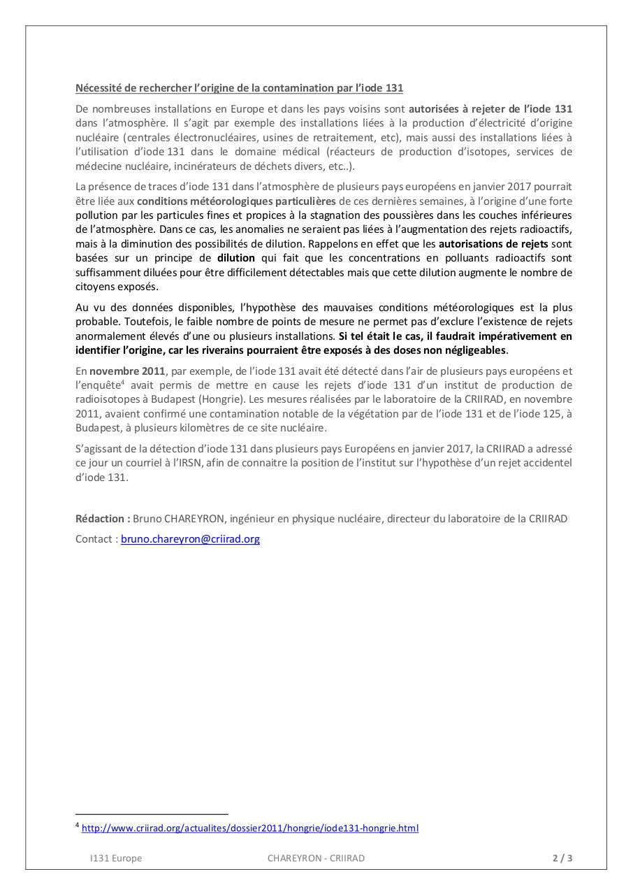 Aperçu du document 17-02-14 CRIIRAD I131 Europe.pdf - page 2/3