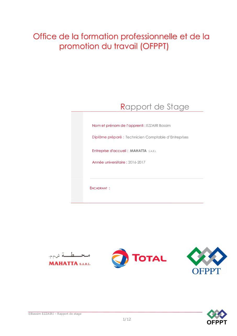 Rapport De Stage Summary Updated Ezzairi Bassim Fichier Pdf