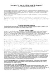 article clubs c pommereau