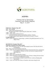 agenda practical details