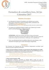 afpb inscriptions et calendrier 2017 v3