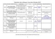 calendrier colloques 2017