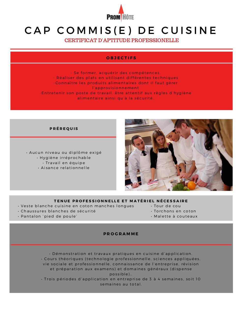Cap Commis E De Cuisine Par Celia Perret Cuisine Cap Pdf