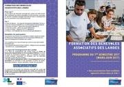 programme de formation des benevoles 1er semestre 2017