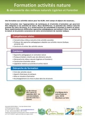 formation activites nature 2017