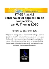 stage epee longue poitiers 2017