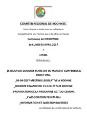 comiter regional de koohnee a bopope 03 04 2017
