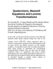 Fichier PDF maxwell quaternion