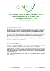 presidentielle du climat developper l agroforesterie
