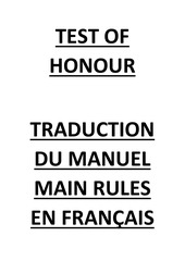 test of honour francais par hobby shop