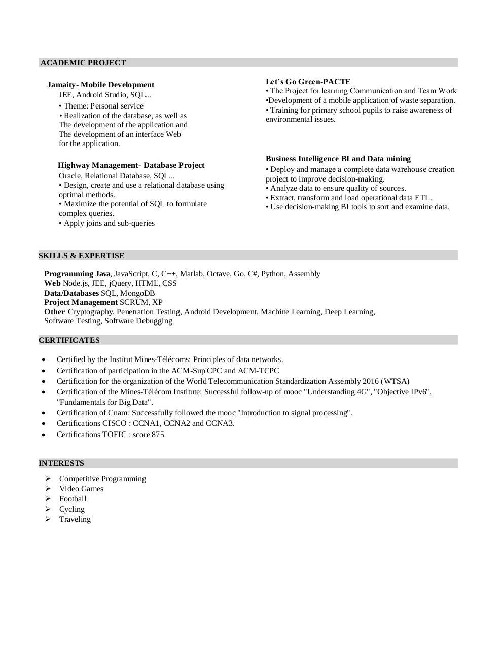 Curriculum-Vitae par mohamed - Fichier PDF