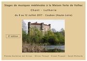 stages de musiques medievales de volhac