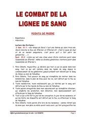 Fichier PDF combat lignee de sang points de prieres