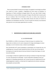 lexicologie par cyrille talla sandeu