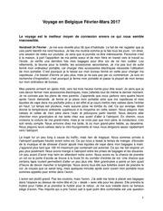 voyage de belgique pdf