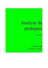 dossier analyse de pratique tome 1 bis